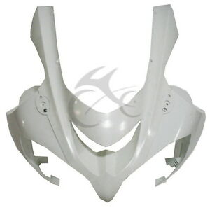 Upper-Front-Fairing-Cowl-Nose-Fit-For-Kawasaki-Ninja-ZX10R-ZX-10R-2004-2005-ABS
