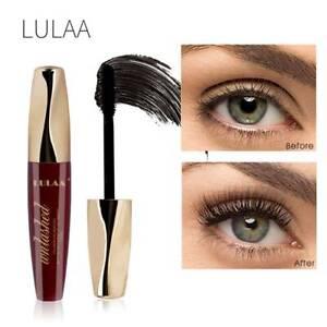 LULAA-Black-4D-Silk-Fiber-Eyelash-Mascara-Extension-Makeup-Waterproof-Eye-Lashes