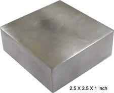 """Solid Steel Bench Block Jewelers Metal Working 2 1/2"""" x 2 1/2"""" x 1"""" Anvil"""