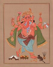Ganesha Art Handmade Indian Hindu Ethnic Religion Miniature Ganesh God Painting