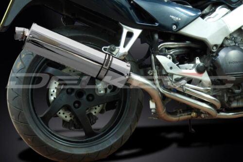 """Honda VFR800 Interceptor 1998-2001 Delkevic 18/"""" Stainless Oval Muffler Slip On"""