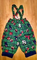 Gymboree Vintage Overalls Suspenders Pants Infant Green Toys With Tag