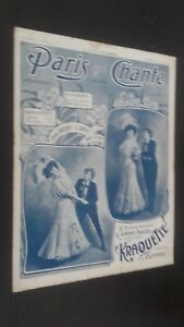 Revista Semanal Dibujada París Que Canta N º 179 Junio 1906 ABE