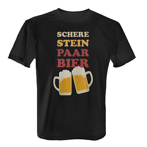 Ciseaux pierre bière t-shirt Hommes Fun shirt fête des pères herrentag ciel voyage