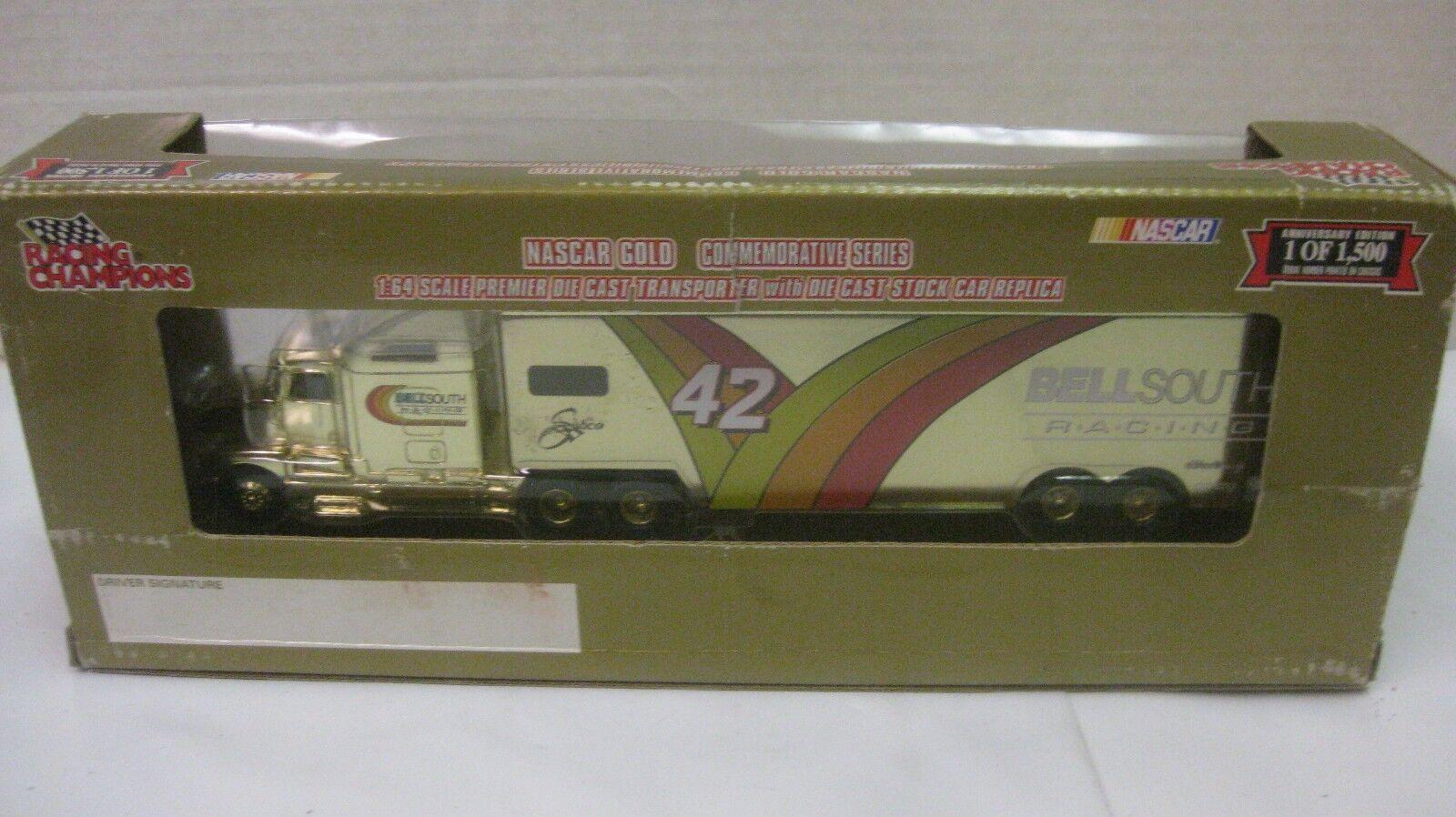 negozio online Nasauto Nasauto Nasauto Joe Nemechek Firmato  42 Bell Sud oro Hauler 1 64 Scala Diecast Rc 1998  liquidazione