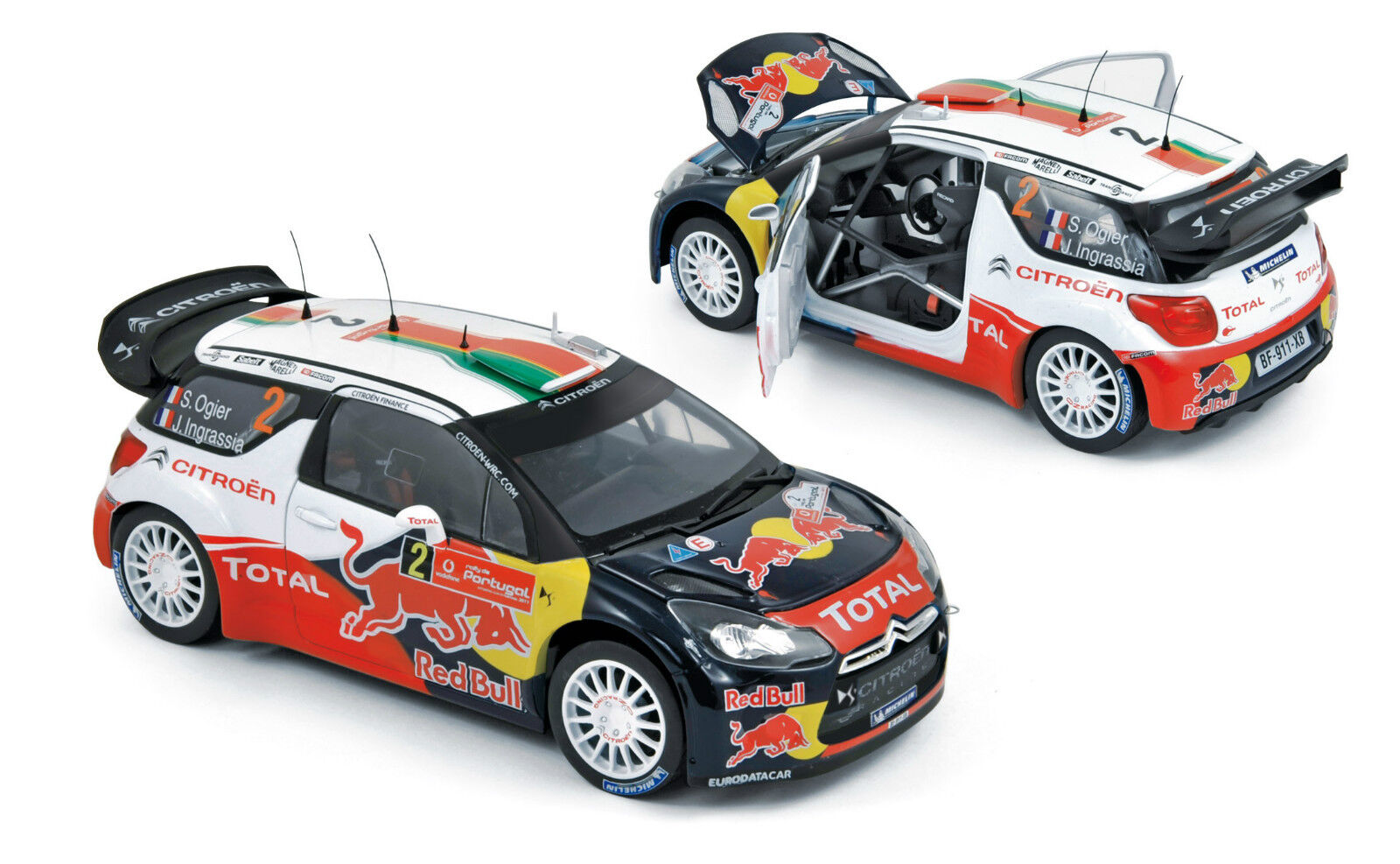 CITROEN DS3 WRC  2 WINNER RALLY PORTUGAL 2011 OGIER INGRASSIA NOREV 181556 1/18