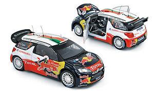 Citroen Ds3 Wrc Vainqueur du Rallye du Portugal 2011 Ogier Ingrassia Norev 181556 1/18