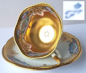 Collector-039-s-Place-Setting-Cup-Saucer-Furstenberg-Lush-Plated-Um-1910-N879