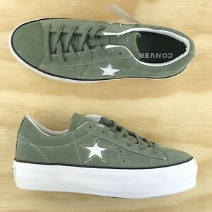 Details about Converse One Star Platform Ox Lift Green White Low Top Shoes 564383C Multi Size