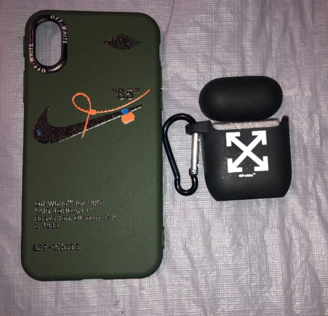 Nike Off White Iphone X Case Olive Green New With Airpod Case Ebay