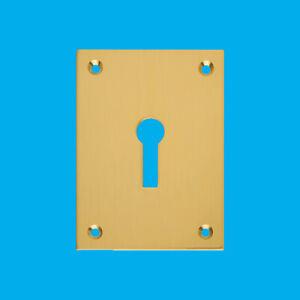 Rectangular Open Escutcheon Polished Solid Brass 43x56mm Keyhole
