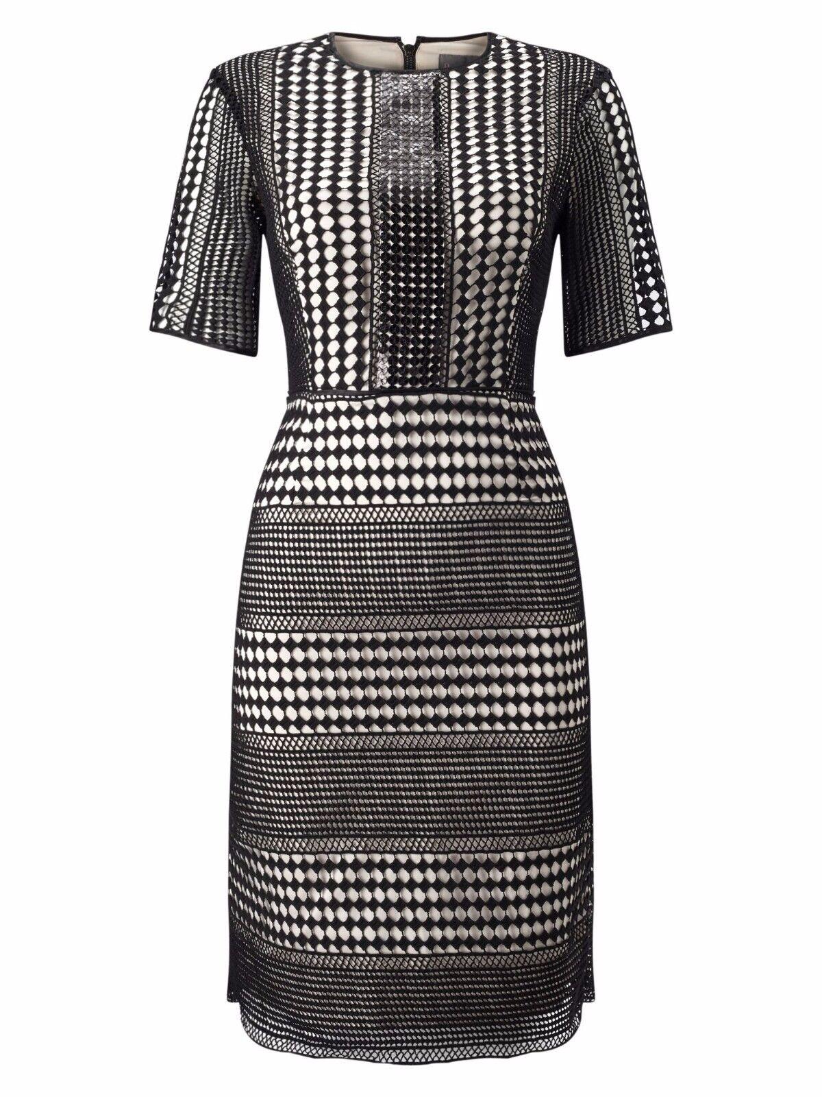 Phase huit Alison Sequin Robe schwarz Größe UK 16   LF075 mm 05