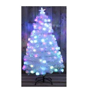 image is loading white rainbow led fibre optic christmas tree multi
