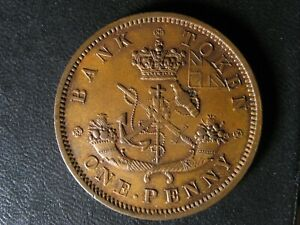 PC-6C1-One-Penny-1854-token-Plain-4-Bank-of-Upper-Canada-Breton-719