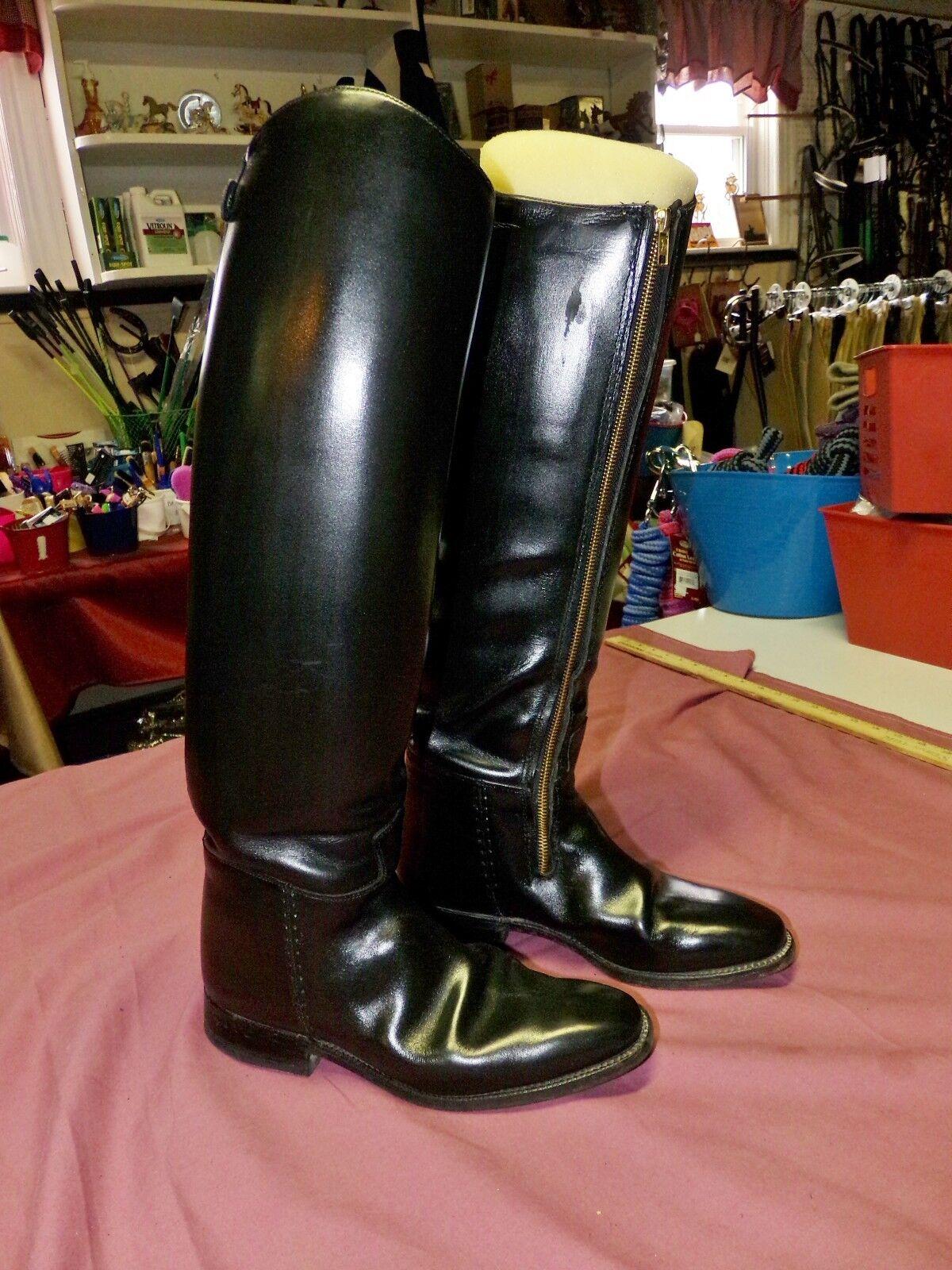 Vestido botas, Cavallo alto doma, tamaño 7.5 8