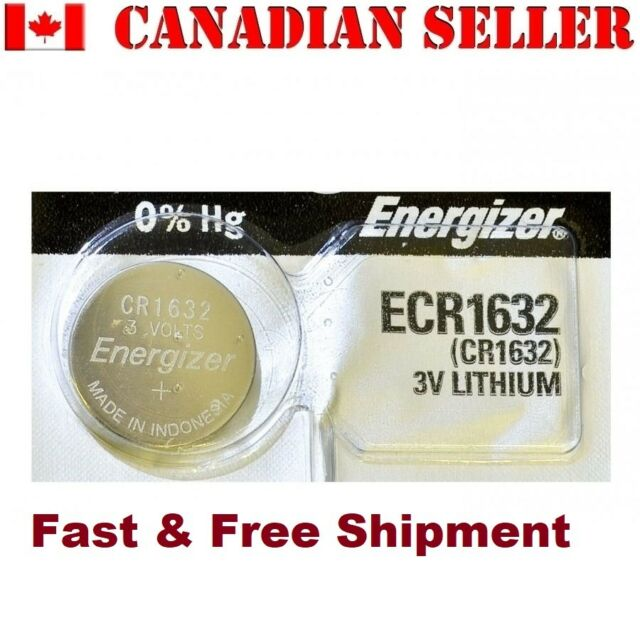 1 NEW Energizer Battery CR1632 1632 3v batteries ECR1632 DL1632  EXPIRY 2025