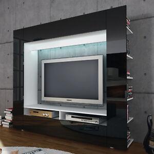 Das Bild Wird Geladen Medienwand Olli TV Wohnwand Anbauwand  Mediacenter Mit Front