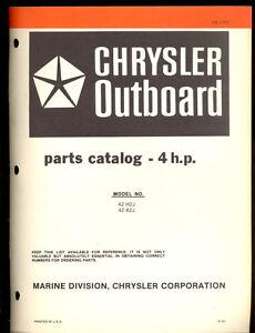 1981 chrysler 4hp outboard motor parts manual ob 3767 ebay rh ebay com Old Chrysler Outboard Motor Parts Chrysler Outboard Boat Motors