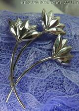 "Vintage ""BLOWING IN THE WIND"" Wheat STERLING SILVER 0.925 BROOCH / BROACH"