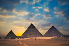 Egypt ancient pyramids sand landscapes Scenery Poster 12x18 Silk Fabric Print 14