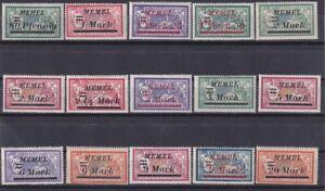 ALLEMAGNE MEMEL 1921-1922 Lot de 55 timbres français surchargés différents N*/MH
