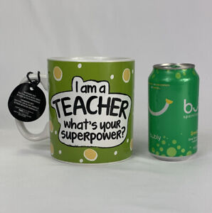 NEW-034-I-039-m-A-Teacher-What-039-s-Your-Superpower-034-LARGE-30-oz-Coffee-Mug-Pencil-Cup