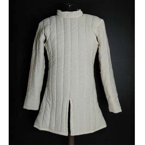 Medieval Thick Padded White Gambeson Movies Theater Custome Sca