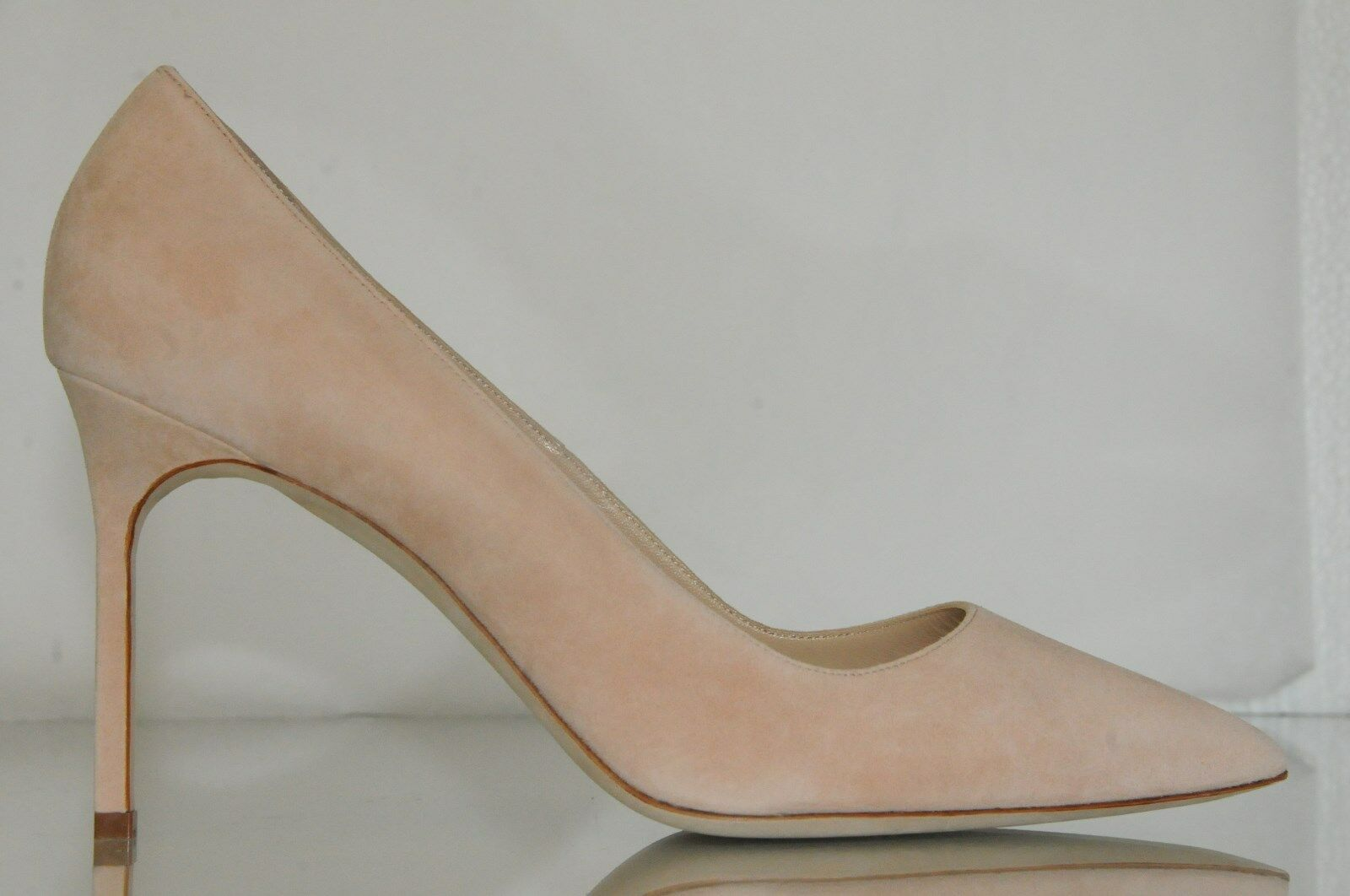 Nuevo Manolo Blahnik Stabipla Beis Color Color Color Carne Zapatos de ante Bb Tacones  garantizado