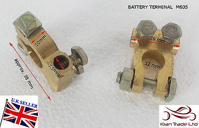 12 V Voiture Batterie Terminal Pince Connecteur Heavy Duty Laiton Boulons positive