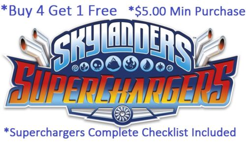 *Skylanders SuperChargers Complete Your Set w Checklist* WiiU PS4 Xbox 360 One