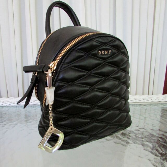 7d878b34cb85bc DKNY R3152022 Lara Mini Quilted Leather Crossbody Black for sale ...