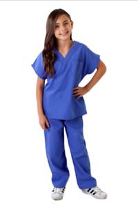7c39c158e49 Children Scrub Sets Medical Uniforms for Kids Soft Fabric Halloween ...