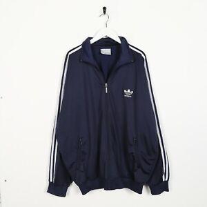 Détails sur Vintage 80s Adidas Petit Logo Veste de Survêtement Bleu Marine XL