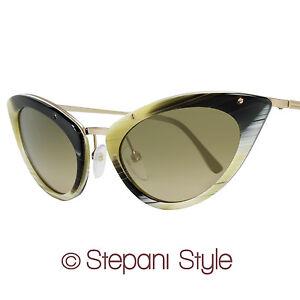 Tom Ford Cat-Eye Sunglasses TF349 Grace 64J Shiny Horn/Gold 349