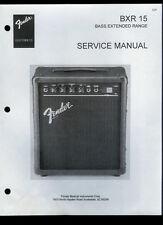 Copy Fender BXR 15 Bass Extended Range Guitar Amplifier Parts List Schematic(s)