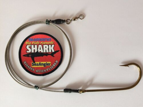 10//0 MUSTAD 3407-BR HOOKED SHARK BITEING TRACE 300lb STAINLESS STEEL WIRE X 1 MT