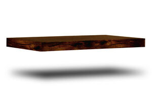 Details About Solid Dark Mango Wood Floating Shelf Wall Shelves Brown Colour