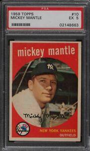 1959-Topps-10-Mickey-Mantle-HOF-Yankees-PSA-5-EX-02148663-SCA