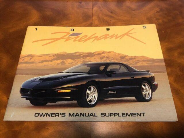 Oem Gm Slp 1995 Pontiac Firebird Firehawk Owners Manual