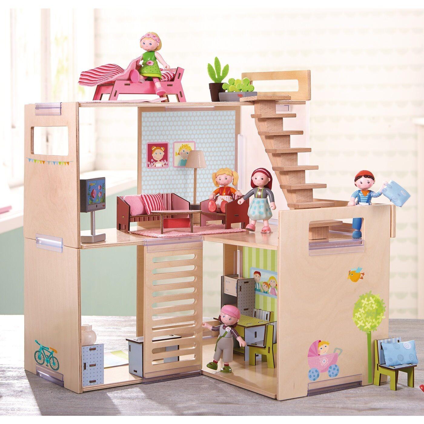 HABA Puppenhaus Villa Frühlingsmorgen 301781 Ab 3 Jahre aus aus aus Holz + BONUS b15700