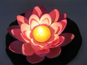 24-Pink-Floating-Lotus-Flower-with-Candle-Wedding-Decoration