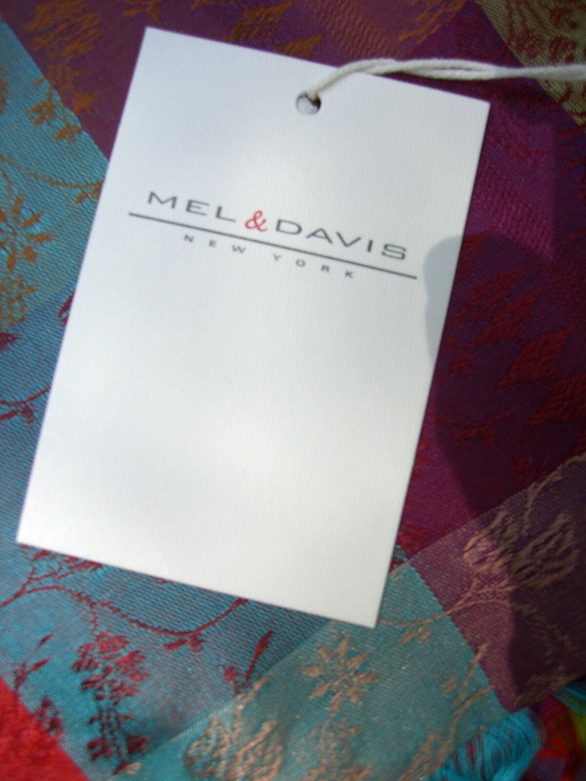 Seidenschal Seidenstola Seidentuch Mel & Davis N.Y. neu neu neu handgewebt multicolour   Reparieren    Gutes Design    Spielzeugwelt, fröhlicher Ozean  aa9714