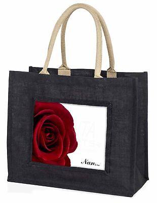 Rote Rose Nan Stimmung große schwarze Einkaufstasche Weihnachtsgeschenk
