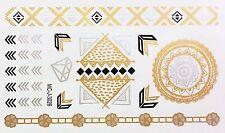Tattoo Gold Silber Schwarz Einmal Klebe Flash Temporary 24teile Armband WOW 3026