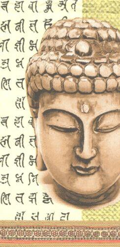 Lot de 2 Serviettes en papier Asie Bouddha Decoupage Collage Decopatch
