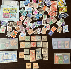 MIDDLE-EAST-STAMP-LOT-ALBANIA-DUBAI-JORDAN-BAHAWALPUR-SAUDI-ARABIA-ETC