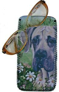 GREAT-DANE-DOG-DESIGN-NEOPRENE-GLASS-CASE-POUCH-SANDRA-COEN-ARTIST-PRINT