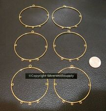 6 Chandelier earring findings gold plated steel 3 dangle 2 center loops fpe175