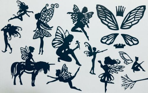 FAIRY FAIRIES /& MORE PLAYFUL FAIRIES VARIETY OF 11 SILHOUETTE DIE CUT //CUTS #2