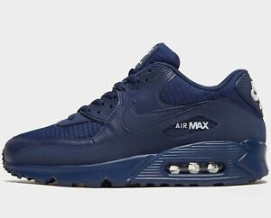Details about ⚫ Authentic Nike Air Max 90 Essential ® (Men Size UK 8.5 10 ) Midnight Navy Blue